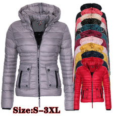 Plus Size, Long Sleeve, Winter Coat Women, parkasforwomen