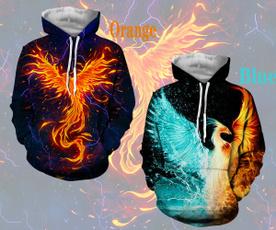 3D hoodies, trending, Hoodies, firephoenix
