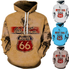 route66, hooded sweater, mens tops, Trend