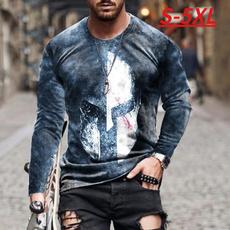 Fashion, Necks, Sleeve, 3dprintedtshirt