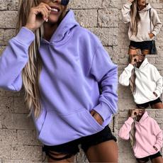 Pocket, Fleece, hooded, Winter