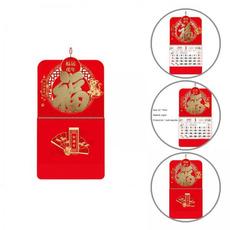 Decorative, chinesecalendar, hangingcalendar, wallcalendar