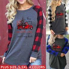 shirtsforwomen, christmasclothing, Plus Size, Long Sleeve