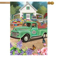 Seasonal, outdoordécor, Flowers, decorativehouseflag