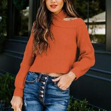 offshouldersweater, Women Sweater, Necks, Halter