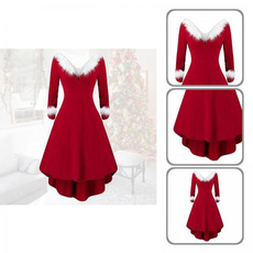 Fashion, Winter, patchworkchristmasdres, Cosplay Costume
