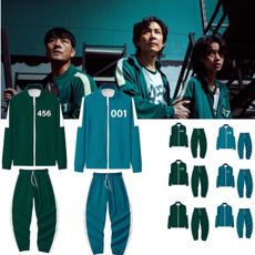 sweatshirtpantsset, squidgamejacket, Fashion, Cosplay
