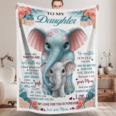 Fleece, Love, Elephant, premiumfleeceblanket