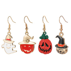 ghost, halloweenearring, Cosplay, Jewelry