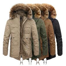 casual coat, warmjacket, Winter, fur collar