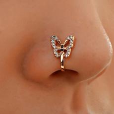 butterfly, nonpiercingclip, fakepiercing, DIAMOND
