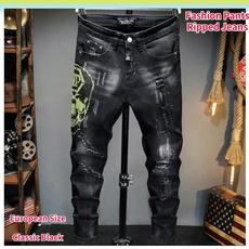 jeansformen, motorcyclejean, men jeans, rippedjean