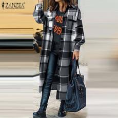 Women, Fashion, checkjacket, gridoutwear