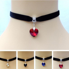 Heart, Diamond Necklace, gemstonenecklace, Lace