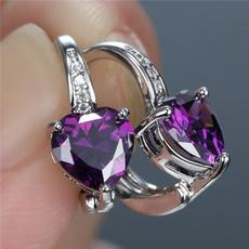 Heart, Fashion, Gemstone Earrings, whitesapphireearring