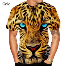 Fashion, leopardtshirt, animal print, personalitytshirt