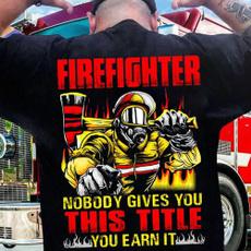 Fashion, Hero, men's cotton T-shirt, firefightershirt