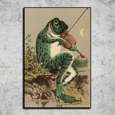 Home & Kitchen, posters & prints, vintageposter, banjofrogartposter