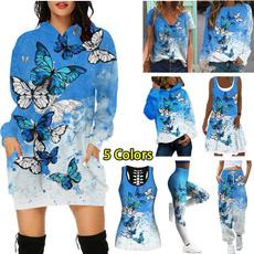 butterflyprint, butterfly, Plus Size, Hoodies
