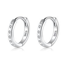Sterling, minimalist, Hoop Earring, for