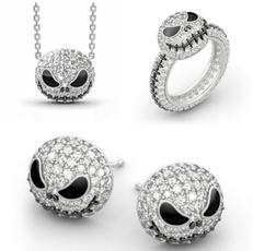 Party Necklace, skullnecklace, mensandwomensring, halloweengift