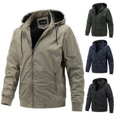 Jacket, hooded, Cotton, menswear