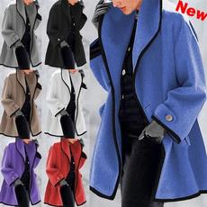 Plus Size, Winter, wool coat, Elegant