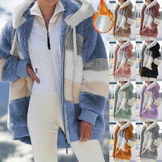 casual coat, fur coat, Plus Size, velvet