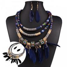 retronecklaceearring, bohemiajewelryset, multilayernecklaceearring, Vintage
