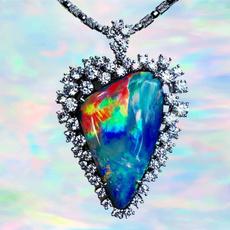Heart, DIAMOND, Wedding, Silver Chain