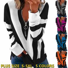 Plus Size, vnecktop, printtop, pulloversforwomen