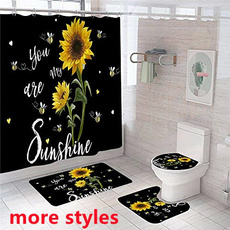 Bathroom, Medium, bathmat, Sunflowers