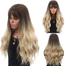 wig, brown, longwavywig, Cosplay