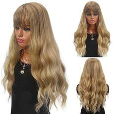 wig, longwavywig, Cosplay, human hair