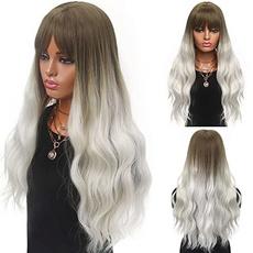 wig, platinum, longwavywig, Cosplay