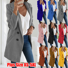 casual coat, Plus Size, Blazer, Winter
