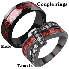 Sterling, Steel, Plus Size, wedding ring