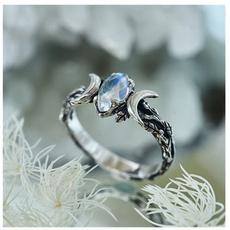 bohemianjewelry, moonstonering, Engagement, wedding ring