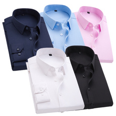 Turn-down Collar, blouse, Slim Fit, Dress Shirt