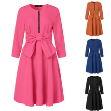 Swing dress, Fashion, Autumn Dress, soliddres
