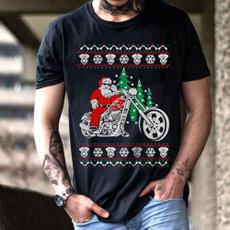 Fashion, Christmas, motorcycleshirt, Santa Claus