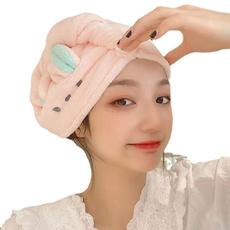cute, Bathroom, haircap, Triangles