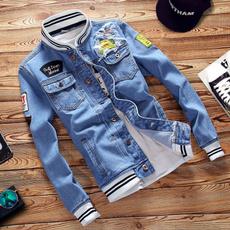 Coat, Slim Fit, fashion Mens Coats, denim jacket