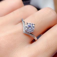 DIAMOND, wedding ring, Silver Ring, Diamond Ring