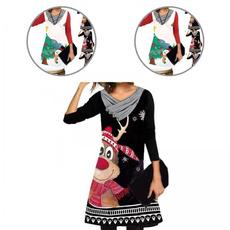 snowman, Colorful, Vintage, Dress