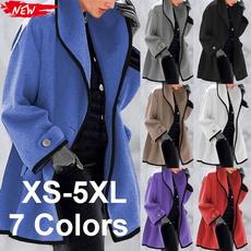 Plus Size, Winter, slim long, Coat