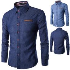 Fashion, Cotton Shirt, Shirt, slimdenimshirt