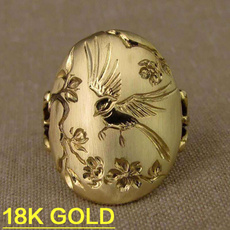 Flowers, wedding ring, Gifts, gold