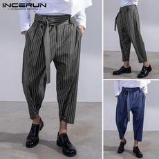 drawstringpant, stripedtrouser, harem, elastic waist