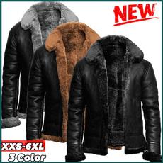 fur coat, Plus Size, leathercoatformen, Winter